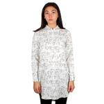 Dedicated White Printed Longline Shirt  (16467)