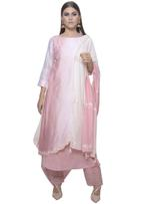 Mandira Wirk White & Pink Kurta with Pants & Dupatta (MW/FW-V005_D)