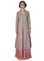 Mandira Wirk Grey & Pink Jacket with Lehenga (MW/FW-A003_J)