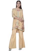 Mandira Wirk Sunset Yellow Jacket with Palazzo Pants (MW/FW-A008)
