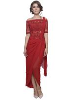 Mandira Wirk Red Tulip Dress (MW/SC-005)