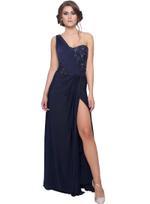 Mandira Wirk Navy Blue Gown (MW/SC-002)