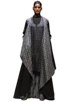 AL-Indian Luxury (Ashima Leena) Black & Grey Kurta with Pants & Cape (AL-O21)