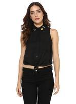 LoveGen Black Crop Shirt (71ABW-32)