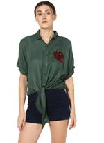 LoveGen Olive Green Tie-Up Shirt (81AH27)