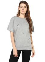 LoveGen Grey Melange Sweatshirt (81AH31)