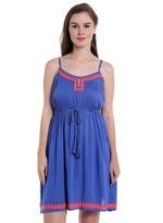 LoveGen Blue Embroidered Dress (SM3)