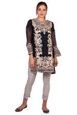 Agha Noor Black Embroidered Kurta (AN-16)