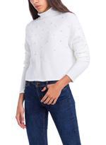 Tiffosi White Pearly Beaded Sweater Top (TFS014)