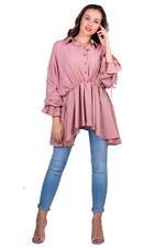 Miella Pink Gathered Waist Top (TP038-PNK)