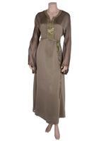 Laila Fashion by Unique Designer Green Moroccan Kaftan with Belt (123456787)