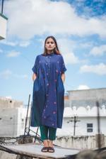 O'Frida Space Navy Flora Wave Gathered Shirt Dress (OFRWF923)