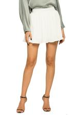 OwnTheLooks White Pleated Mini Skirt (273C)