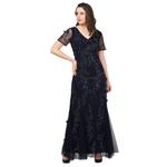 Amit GT Black Embellished Cocktail Gown (AGTVK11)
