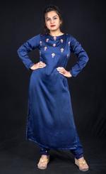 Plush Culture Blue straight kurta with pants (FE_26)