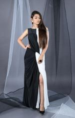 Plush Culture Black and White knotted dress (GN_2)