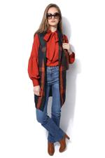 Miella Red & Black Check Wool Waistcoat-Style Jacket  (JK143-Multi)