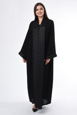 Moistreet Black Hand Embroidered Abaya (MOIS3037)