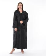 Moistreet Black Pleated Abaya (MOIS3084)