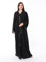 Moistreet Black Embellished Abaya (MOIS3104)
