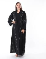 Moistreet Black Hand Embroidered Abaya (MOIS3114)