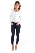 Miella Navy Blue Slim Lace Pants  (PN194-NVY)