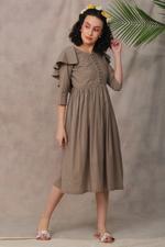 The Khadi Staple Fawn Mocktail Dress (TKSF06)