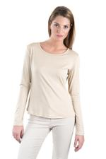 Miella Beige Basic Solid Knit Top (TP7601-BEG)