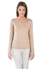 Miella Beige Basic Knit Top  (TP7601-LBRW)