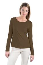 Miella Olive Green Basic Solid Knit Top (TP7601-OLV)