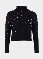 Tiffosi Black Pearly Beaded Sweater Top (TFS013)