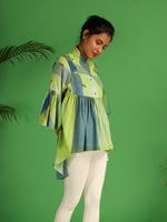 Irabira Multiple Shades Of Green & Blue Vie (19SON05BL-04)