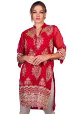 Agha Noor Red Embroidered Kurta (AN-17)