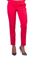 Miella Pink Folded Hem Straight Trousers (PN307-PNK)