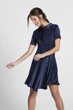 OwnTheLooks Navy Blue Peter Pan Collar Frock (339C)