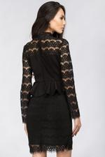 OwnTheLooks Black Lace Peplum Dress (256A)