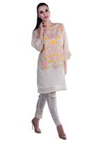 Agha Noor White Embroidered Kurta with Pants (ANSS'19-06)