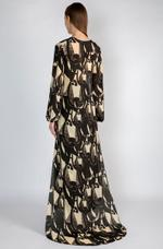 Masaba Black & Ivory Top, Cape & Pants Set by Vesimi (MAW19106)