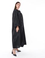 Moistreet Black Panel & Button Abaya (MOIS3129)