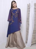 Mandira Wirk Purple Ombre Kurta (MW/FW-A010)
