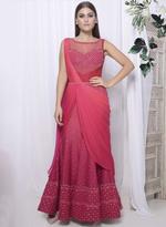 Mandira Wirk Pink Ombre Draped Saree (MW/SCF011)