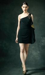 Mandira Wirk Black Dress (MWJD-012)