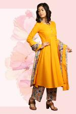 The Khadi Staple Yellow Kurta Set (TKSG09)