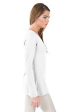 Miella White Basic Knit Top  (TP7602-WHT)