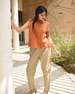 Sugandh Khaki Brown Earthy Autumn Pants  (wos-520)
