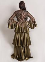 Sa Soie Gold Evening Gown (04002)