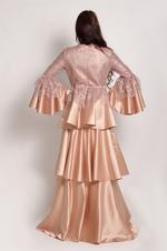 Sa Soie Beige Evening Gown (04003)