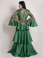 Sa Soie Green Evening Gown (04003)
