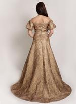 Si Fashion Galerie Gold Evening Gown (04006)