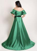 Si Fashion Galerie Green Evening Gown (04007)